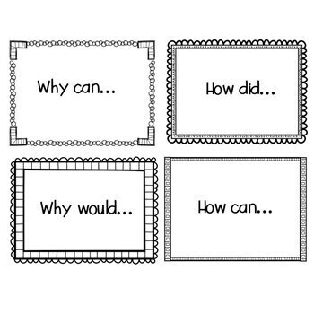 Question Stems - 48 Flashcards for Comprehending Texts