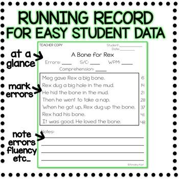 Comprehension & Fluency Passages - Beginning Readers + Running Records - PART 1