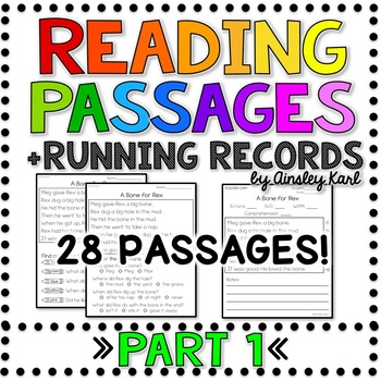 picture relating to Printable Running Record Passages called Understanding Fluency Internet pages - Setting up People + Working Information - Aspect 1