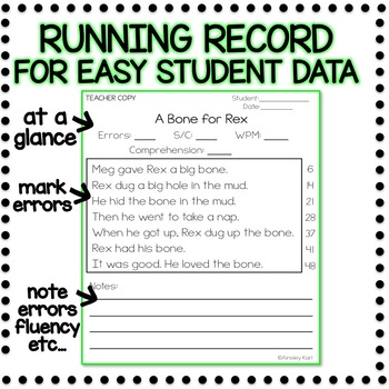 graphic about Printable Running Record Passages named Knowledge Fluency Webpages - Commencing Visitors + Managing Information - Element 1