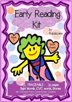 Comprehension, Fluency & Expression Book 5 Early Reading Kit (Short Vowel 'i')