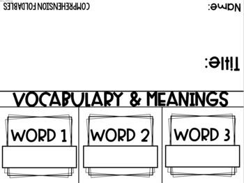 Comprehension Foldables (K-1)