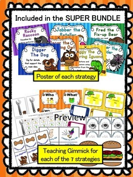 Reading comprehension strategies - *FREEBIE* - Beanie baby