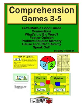 Comprehension games 5th grade