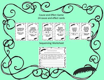 Comprehension Games - Mustache Theme - fact/opinion, cause/effect and sequencing