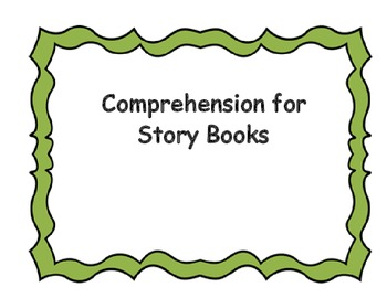 Comprehension Graphic Organizers using Story Books for Small Group
