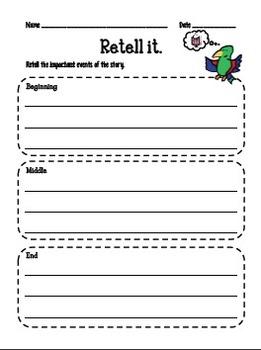 Comprehension Helper Worksheets