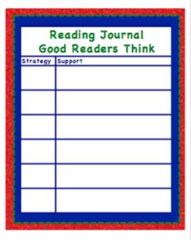 Comprehension Journal