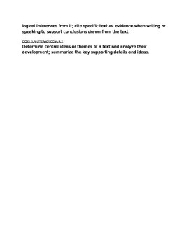 Comprehension Launching Lesson Plan
