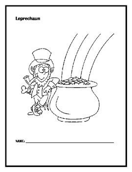 Leprechaun short story, questions  + a color page