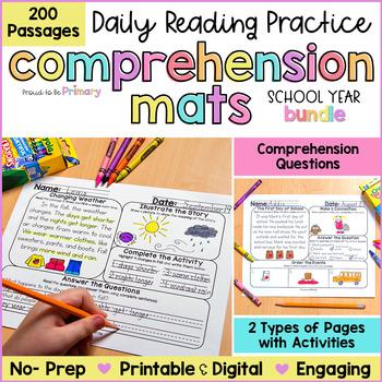 Reading Comprehension Passages Bundle