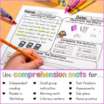 Reading Comprehension Passages Bundle | Printable & Digital | Distance Learning