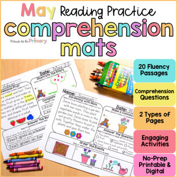 Reading Comprehension Mats for May