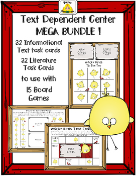 Text Dependent Comprehension Centers