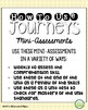 Comprehension Mini Assessments - Journeys Unit 1, 3rd Grade