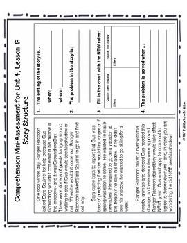 Journeys Unit 4 Third Grade Comprehension Mini Assessments