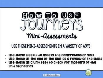 Comprehension Mini Assessments - Journeys Unit 5, 3rd Grade