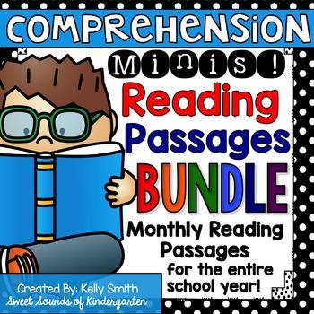 Reading Comprehension Passages {Bundle}