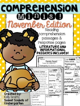 November Reading Passages {Comprehension Minis}