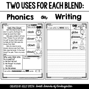 Phonics Reading Passages- Blends {Comprehension Minis}