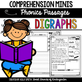 Phonics Reading Passages- Digraphs {Comprehension Minis}