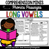 Phonics Reading Passages- Long Vowels {Comprehension Minis}