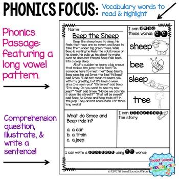 Phonics Reading Passages- Long Vowels {Comprehension Minis}
