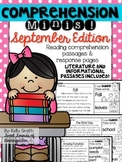 September Reading Passages {Comprehension Minis}