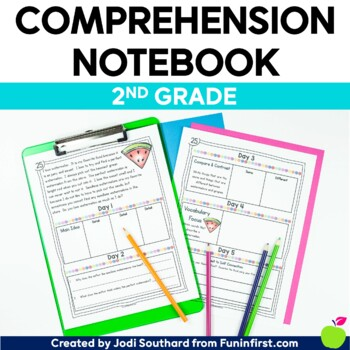 Comprehension Notebook Second Grade - Distance Learning