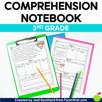 Comprehension Notebook Third Grade - Distance Learning