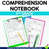 Reading Comprehension Notebook Third Grade - Google Slides - Distance Learning