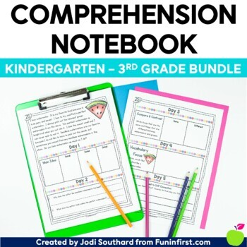 Comprehension Notebook (Kindergarten - 3rd Grade Bundle