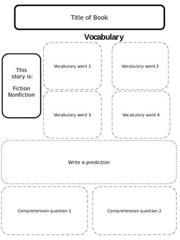 Comprehension Organizer -EDITABLE