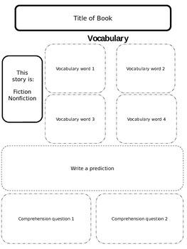 Comprehension Organizer -EDITABLE