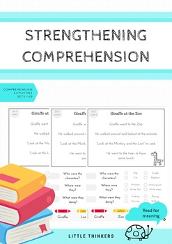 Comprehension Pack #1: Reading for meaning