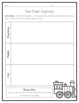 Comprehension Pack:  The Polar Express
