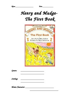 Comprehension Packet- Henry and Mudge the First Book
