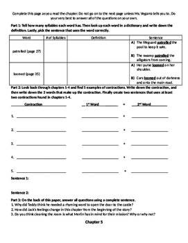 Comprehension Packet: Magic Tree House, Haunted House on Hallows Eve