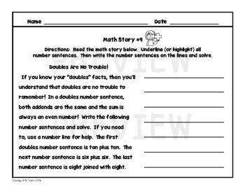 Reading Comprehension Passages (Math)