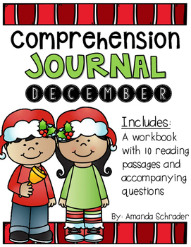 Comprehension Passages: December Journal Common Core Aligned (No Prep)