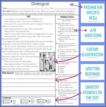 Comprehension Passages: Dialogue