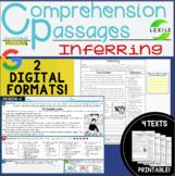 Digital Comprehension Passages: INFERRING- 2 DIGITAL & PRI