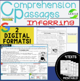 Digital Comprehension Passages: INFERRING- 2 DIGITAL & PRI