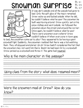 Comprehension Passages: January Journal Common Core Aligned (No Prep)