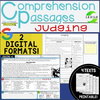 Comprehension Passages: Judging