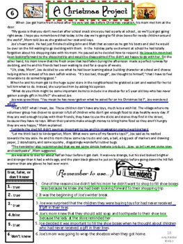 Comprehension Passages Locating Text Evidence in Christmas & Holiday Stories