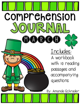 Comprehension Passages: March Journal Common Core Aligned