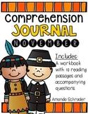 Comprehension Passages: November Journal Common Core Aligned (No Prep)