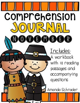 Comprehension Passages: November Journal Common Core Aligned (No Prep)