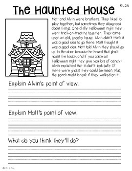 Comprehension Passages: October Journal Common Core Aligned (No Prep)